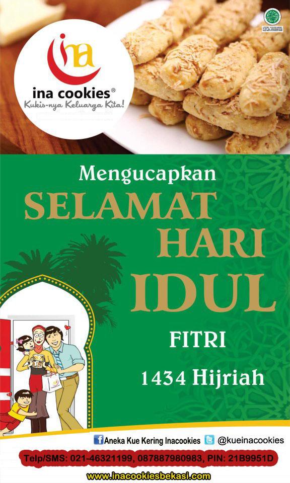 Ucapan Lebaran 1434 H Ina Cookies Bekasi