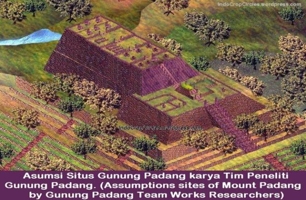 ilustrasi gunung padang