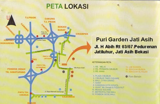 Peta Lokasi Puri Garden Jati Asih