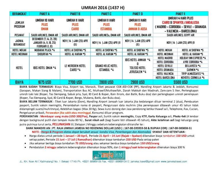 UMRAH PLUS 2015-2016