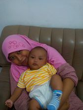 My wife with may Son Buba
